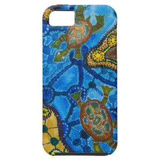 Aboriginal Turtles Painting iPhone 5 Cover