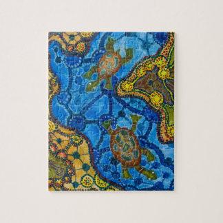 Aboriginal Turtles Painting Jigsaw Puzzle