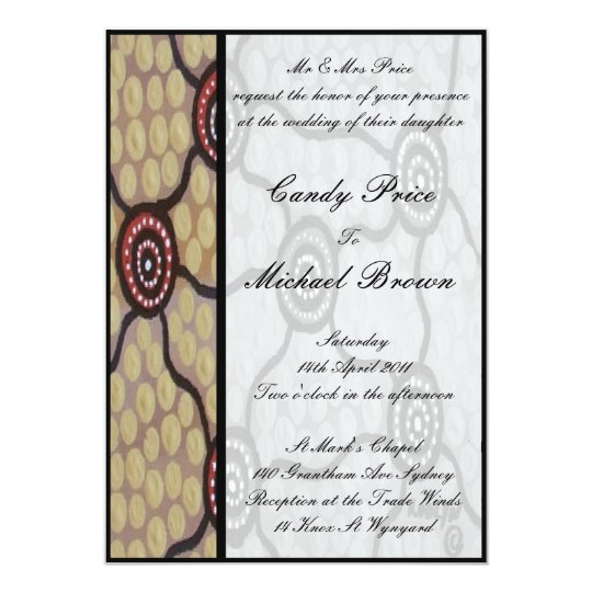 Aboriginal Wedding Invitation Eora