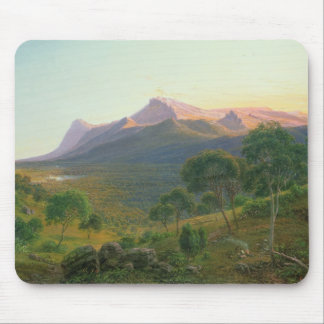 Aborigines by a Fire before Mount William Mouse Mat