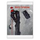 Aborist Tree surgeon christmas present gift Card