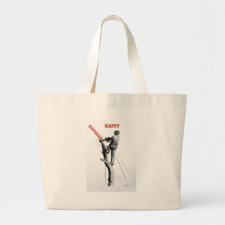 Aborist Tree surgeon christmas present gift Large Tote Bag