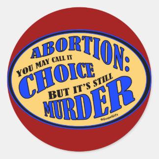 Abortion is Murder Classic Round Sticker