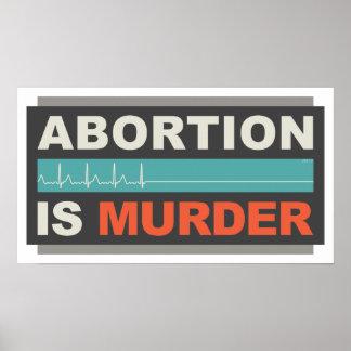 Abortion Is Murder Poster