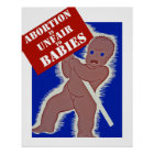 Abortion is Unfair to Babies Poster