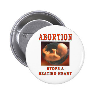 ABORTION STOPS. 6 CM ROUND BADGE