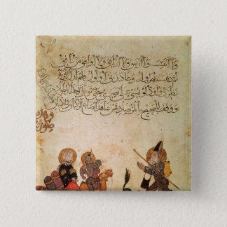 Abou Zayd meets some merchants 15 Cm Square Badge