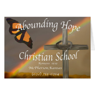 Abounding Hope 15:13 Greeting Card