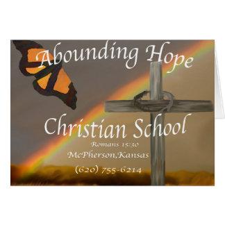 Abounding Hope Christian School Romans 15 13 Greeting Card