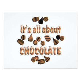 About Chocolate 11 Cm X 14 Cm Invitation Card