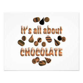 About Chocolate Custom Announcements
