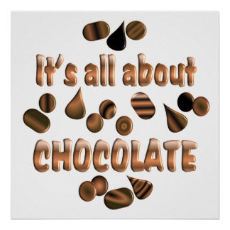 About Chocolate Poster