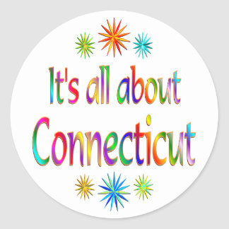 About Connecticut Round Stickers