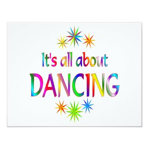 About Dancing 11 Cm X 14 Cm Invitation Card