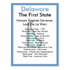 About Delaware Postcard
