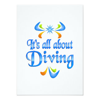 About Diving Custom Invitation