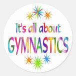 About Gymnastics Round Sticker