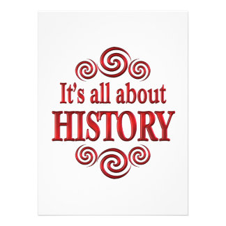About History Personalized Invitations