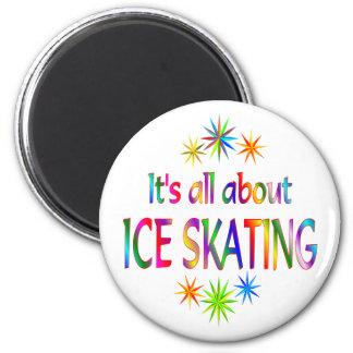 About Ice Skating Fridge Magnet