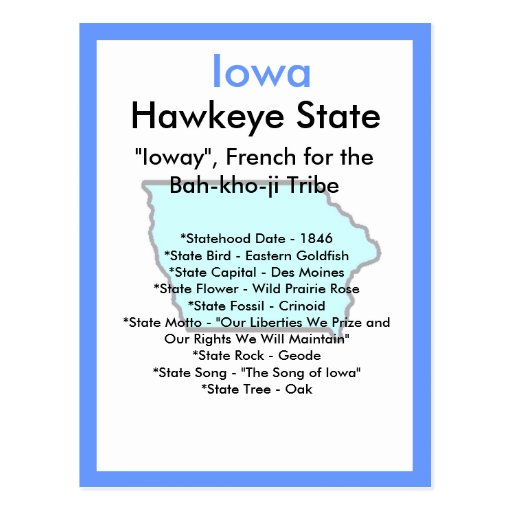 About Iowa Post Card