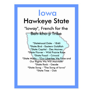 About Iowa Postcard