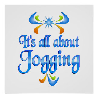 About Jogging Poster