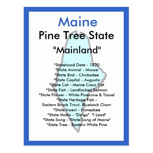 About Maine Post Cards