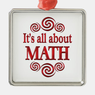 About Math Christmas Ornaments
