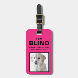 [About My Dog] Blind Deaf Cat Dog Luggage Tag