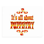 ABOUT PUPPETRY POSTCARD