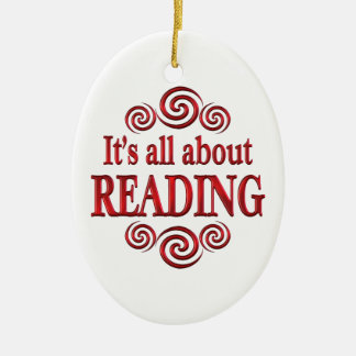About Reading Christmas Tree Ornament