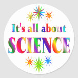 About Science Round Stickers