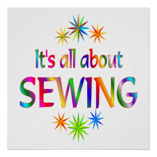 About Sewing Poster