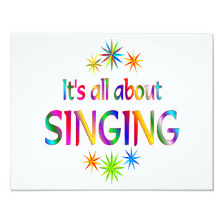 About Singing 11 Cm X 14 Cm Invitation Card