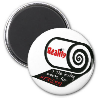 About Stress 6 Cm Round Magnet
