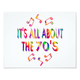 About the 70s 11 cm x 14 cm invitation card