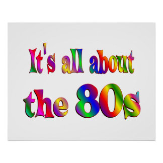About the 80s posters