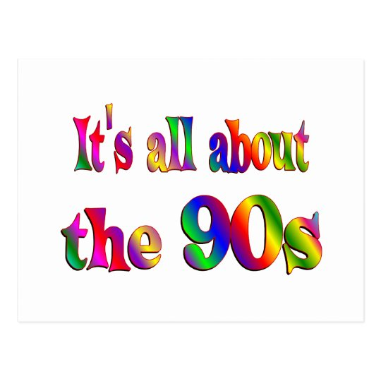About the 90s postcard
