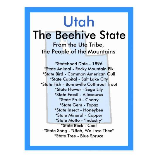 About Utah Postcard