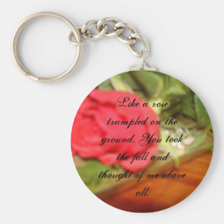 Above all basic round button key ring