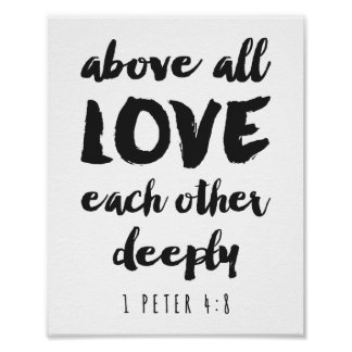 Above all Love Poster Print