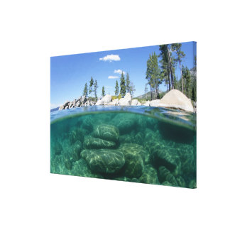 Above and below Lake Tahoe Canvas Print