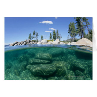 Above and below Lake Tahoe Card