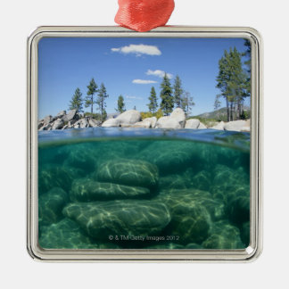 Above and below Lake Tahoe Christmas Ornament