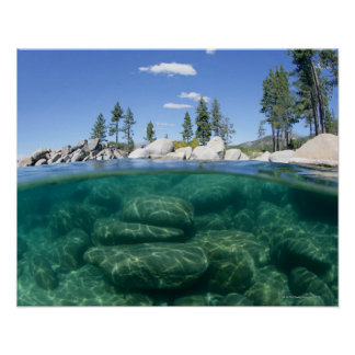 Above and below Lake Tahoe Poster