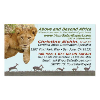 Above and Beyond Africa Your African Safari Expert Business Card Templates