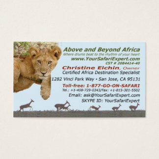 Above and Beyond Africa Your African Safari Expert Business Card