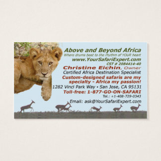 Above and Beyond/Christine's business cards