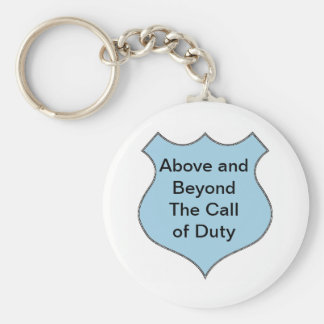 Above and Beyond the Call of Duty Badge Key Chains