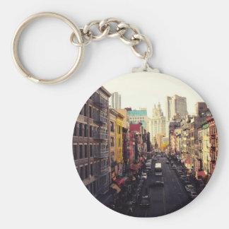 Above Chinatown Basic Round Button Key Ring